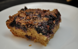 A nice slice of blueberry brunch cake