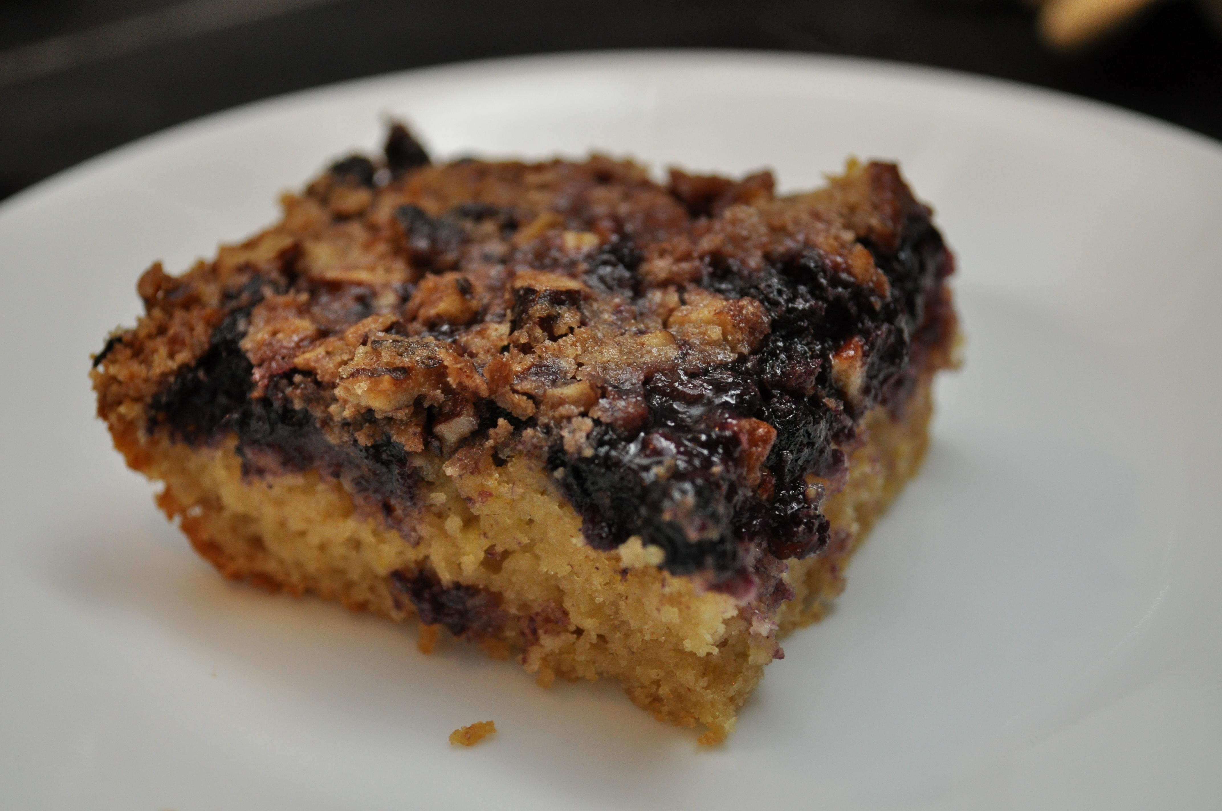 A nice slice of blueberry brunch cake