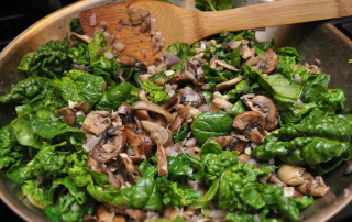 Spinach and Mushroom Stir Fry
