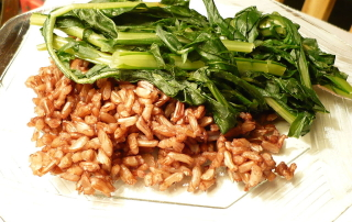 Dandelion Greens with Wehani Rice