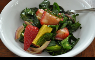 Kale, Strawberry and Avocado Salad