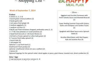Meal Plan Menu Sept 7-13