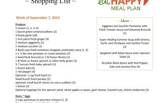 Meal Plan Menu Sept 7-13