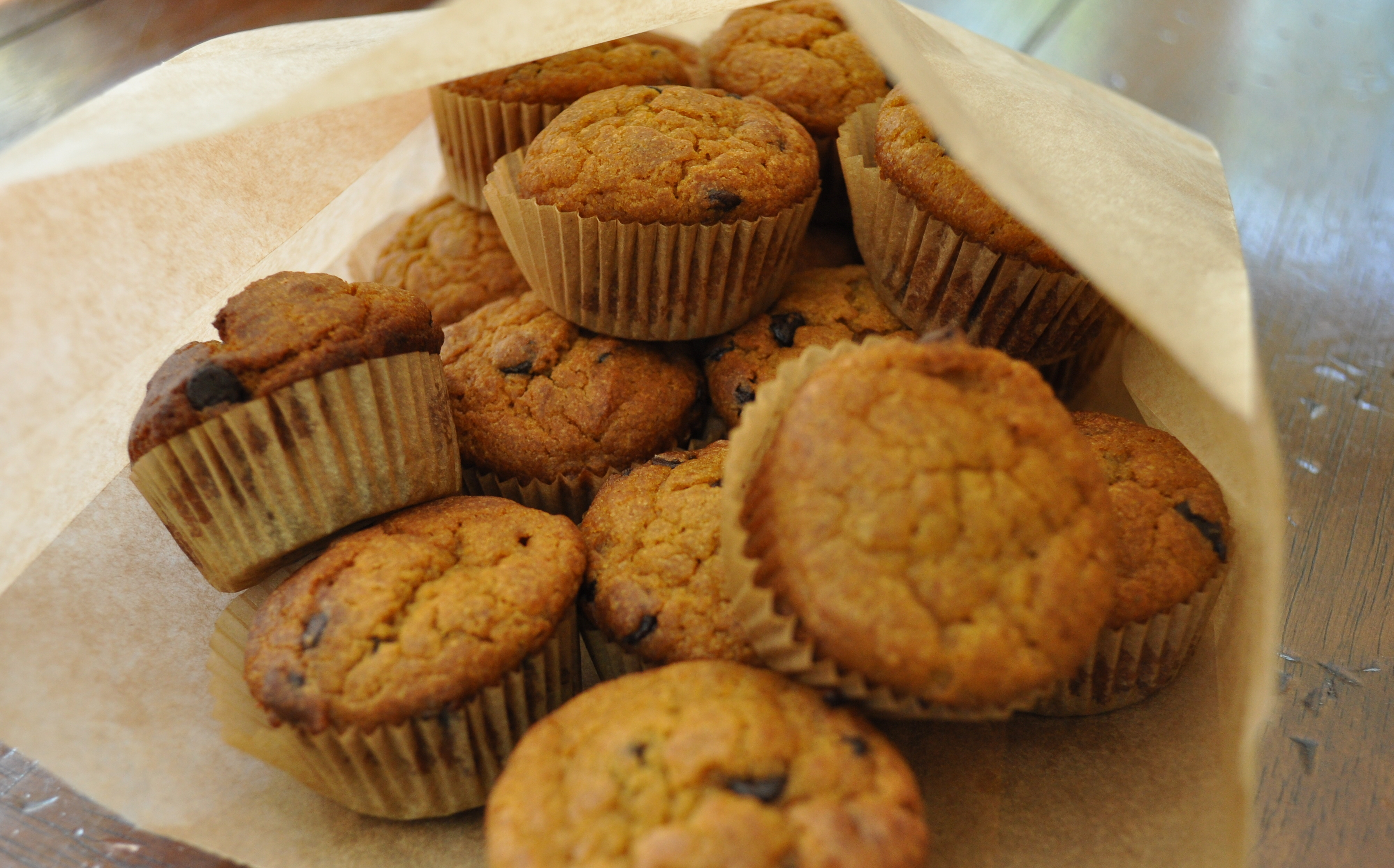 Pumpkin muffins, mini size