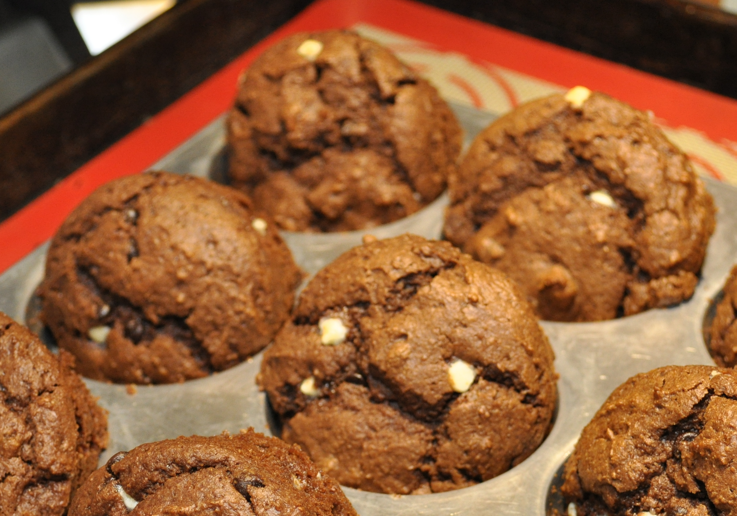 Chocolate Chocolate Chip Muffins