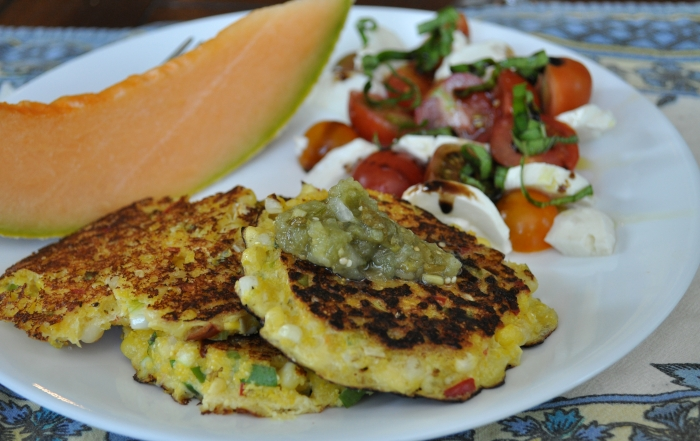 Sweet Corn and Polenta Fritters